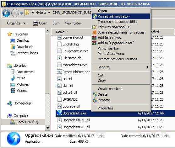 Software voor Hytera – HAM-DMR be